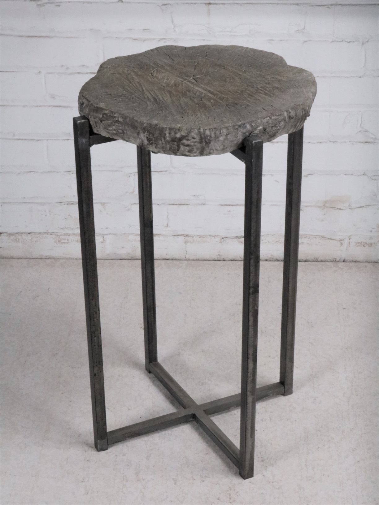 Picture of: Small Faux Bois Drink End Table Ferro Designs