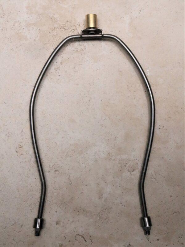 10 inch lamp harp in dark bronze.