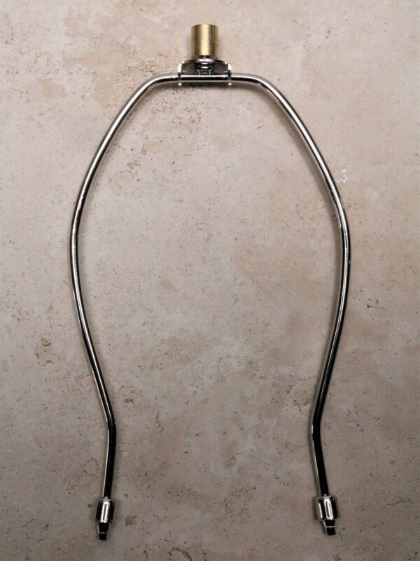 10 inch lamp harp in nickel.