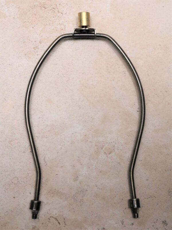 9 inch lamp harp in dark bronze.