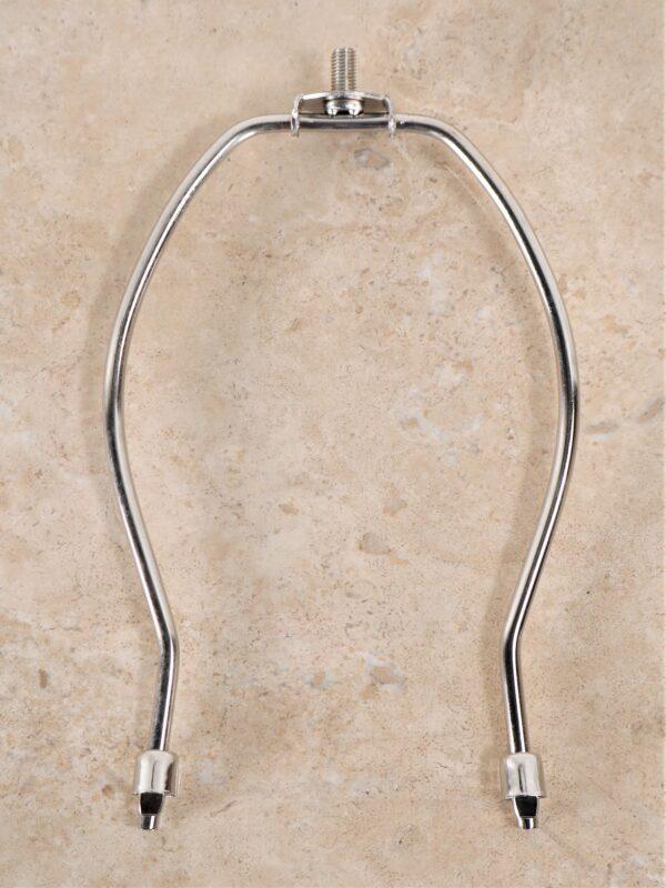 8 inch lamp harp in nickel.