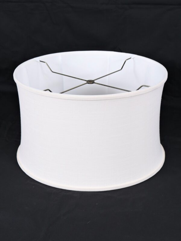 19 inch drum shaped linen lamp shade on a black background