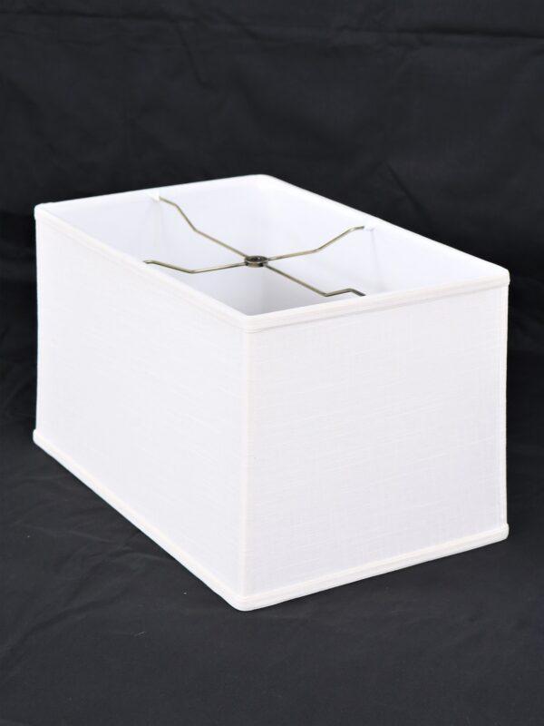 lamp shade, linen lamp shade, 19 inch rectangle